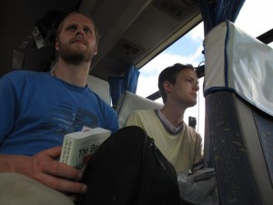 Interns Luke LaCava and Marc Kaeraa Enroute to Nzega from Dar es Salaam